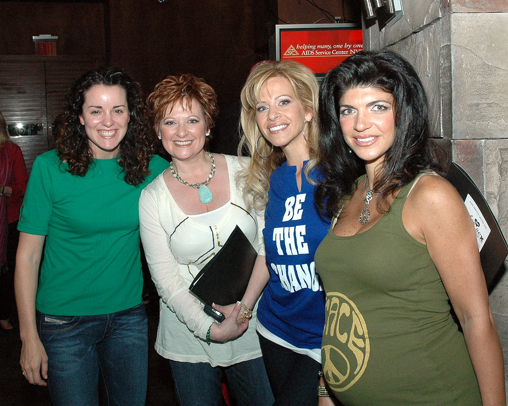Anne West-Church with Caroline Manzo, Dina Manzo and Teresa Giudice of The Real Housewives of New Jersey