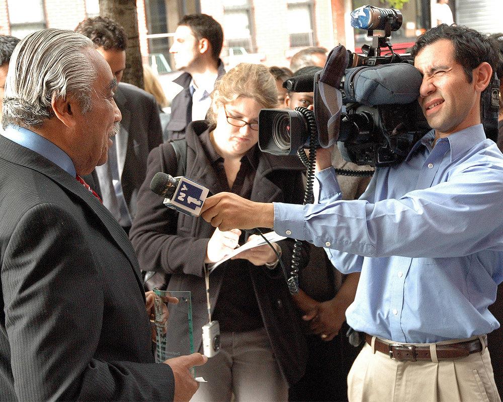 NY1 interviews Congressman Charles B. Rangel