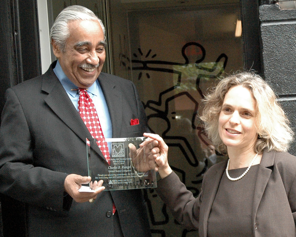 Congressman Charles B. Rangel and Sharen I. Duke, ASC Executive Director/CEO
