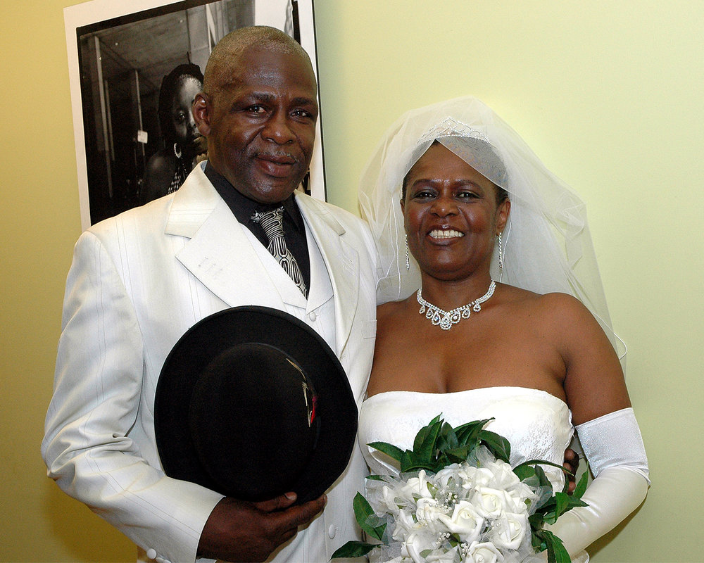 Melvin Shepheard (Groom) and Sherry Crawford (Bride)