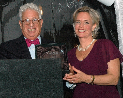 ED Sharen Duke Presents Honoree John Goldman with the Positive Changemaker Award