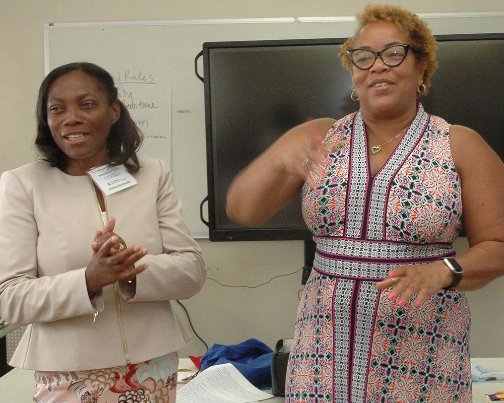 Deborah Yuelles and a class member