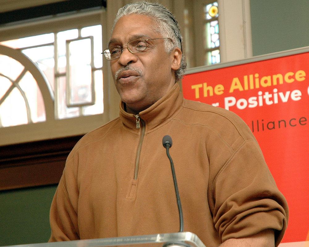 Reginald P. during his reading