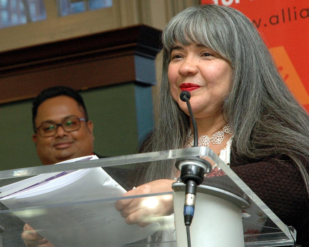 Rosa V. during her reading