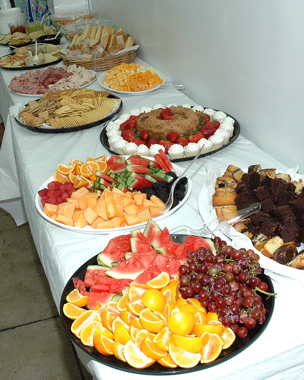 Food a-plenty for the attendees