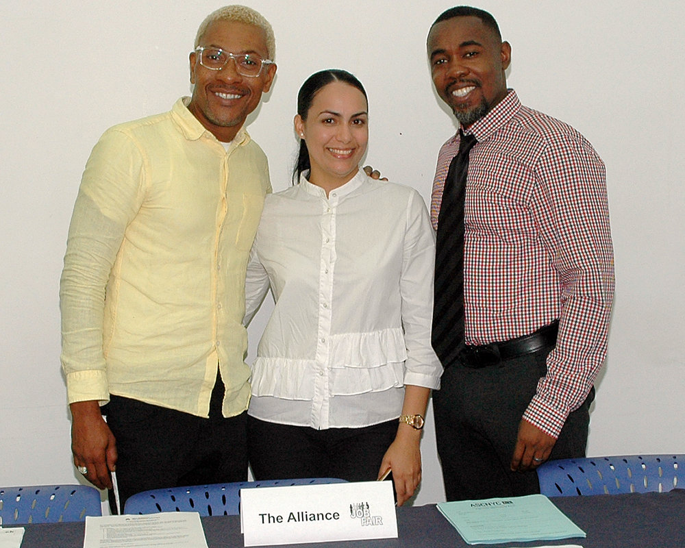 Luis Worrell, Suri Medina and Jean Pierre Louis