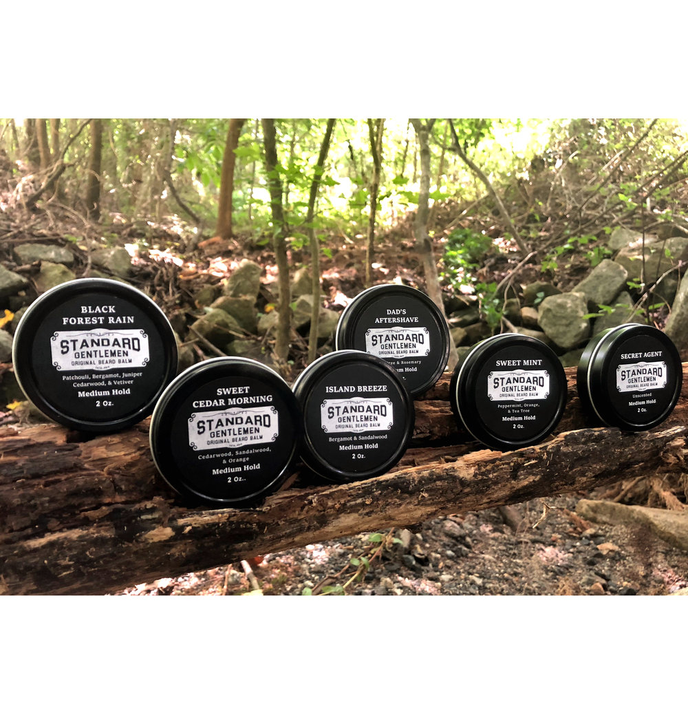 Our 2 oz. Beard Balms are available in five fragrances and one unscented. Free standard shipping for all U.S. orders.