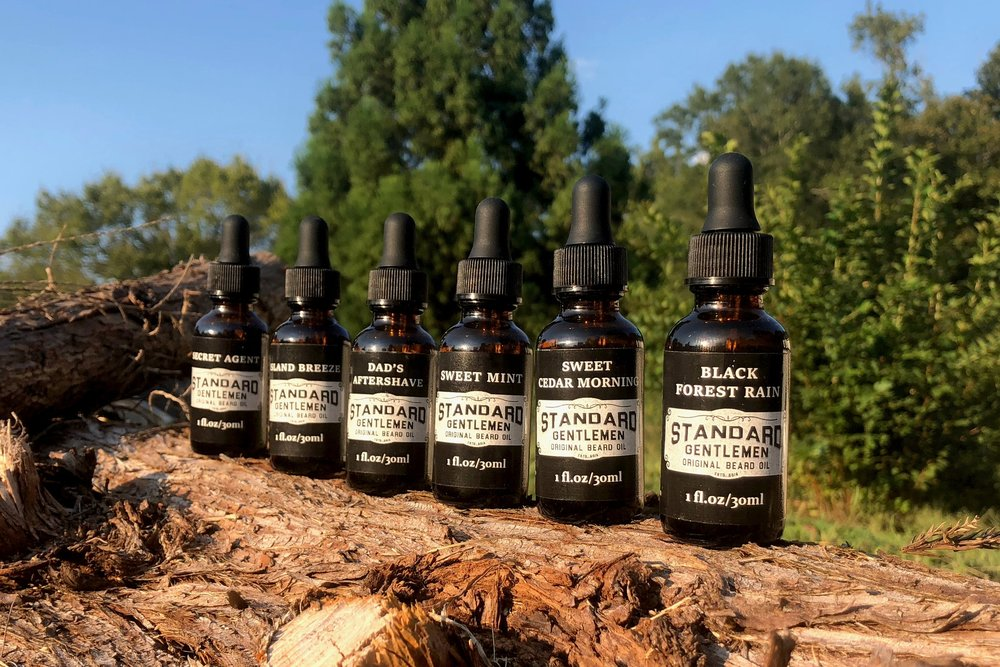 Our 1 oz. Beard Oils are available in six fragrances and one unscented. Free standard shipping for all U.S. orders.