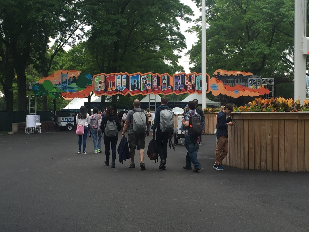 The gates to enter the festival grounds