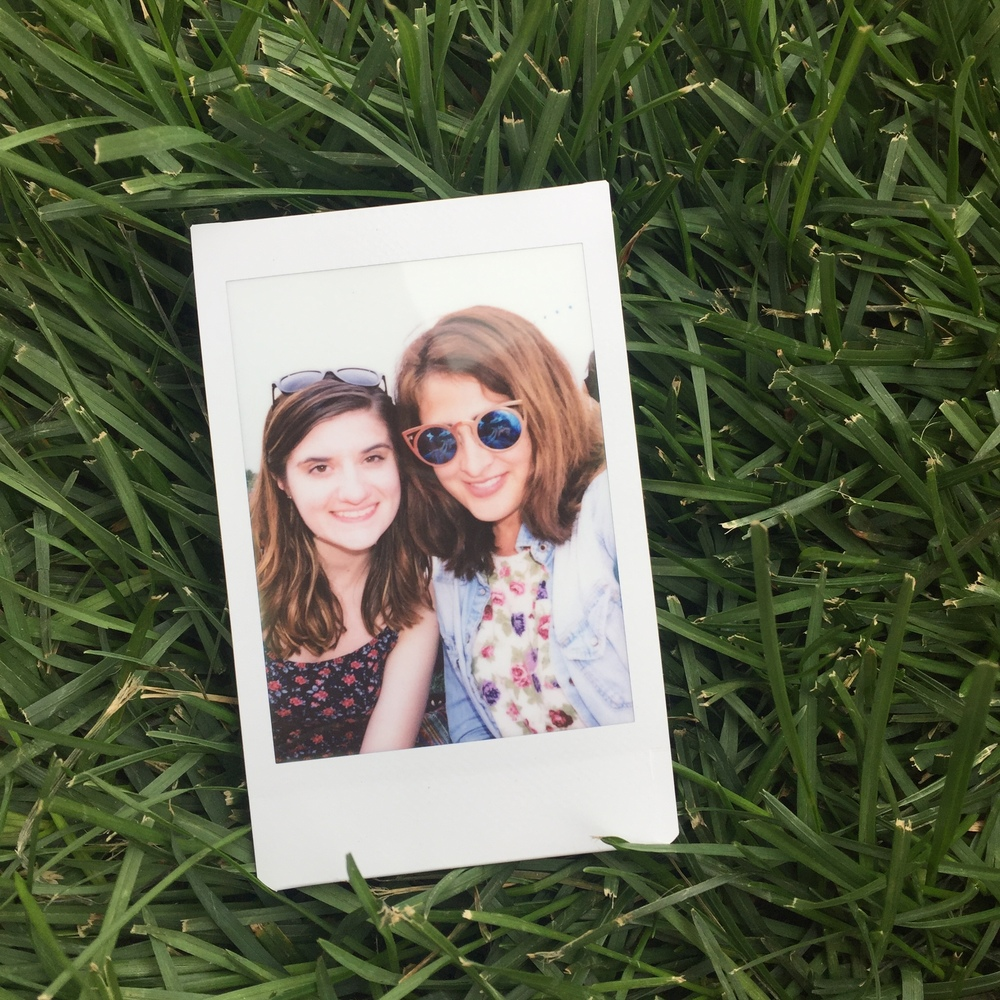 I also got a chance to meet up with Christine, a friend from Tumblr who I've known for ages but had never met in person. So we took a polaroid together.