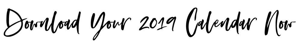 2019 Free Printable Calendar by Kristy Jamieson