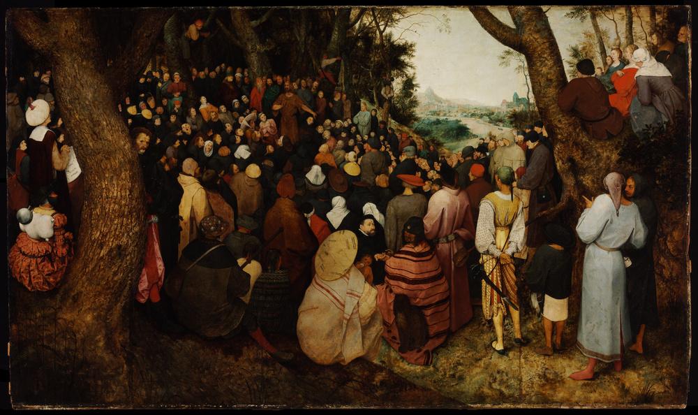 ST JOHN THE BAPTIST PREACHING   - Pieter Bruegel