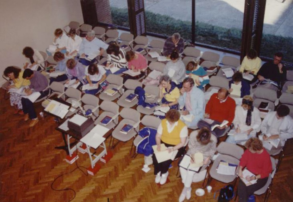"What we now call the ""Fireside Room"" - 1988"