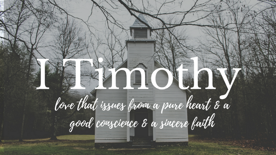 1 Timothy: love that issues from a pure heart and a good conscience and a sincere faith