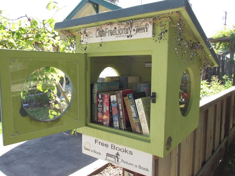 Little Free Library 's operate with the motto:  Building Community, Sparking Creativity and Inspiring Readers.  I think they are functioning works of art.