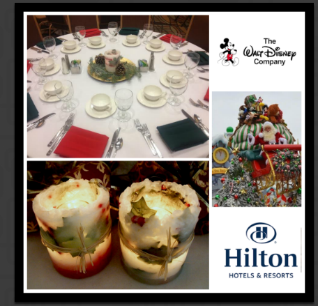 Wishful Wicks provided over 100 stunning holly luminaries for the Anaheim Hilton holiday Christmas party.  Simple, elegant and beautiful  We knew we had a beautiful product when, at the end of the night, 93 of the luminaries were stolen from the tables by the guests!