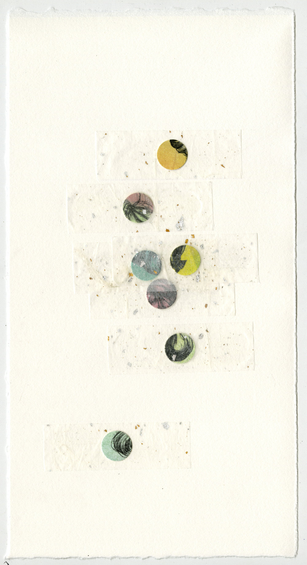 """Slides Vol. IV"" Lithography, relief, chine colle 8""x15"""