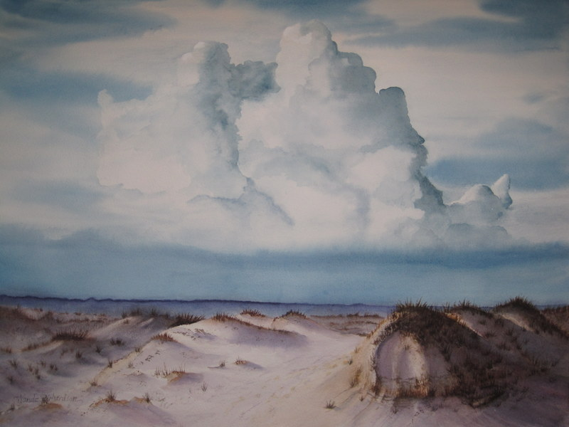 "Blumenthal Award (watercolor)--Wanda Richardson – ""Sand Sea & Skies"""