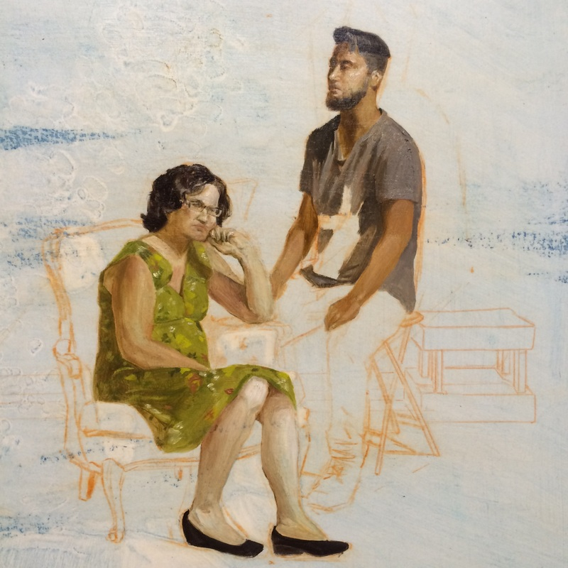 "Honorable Mention-- Frank Valdez--""Mother + Brother"""