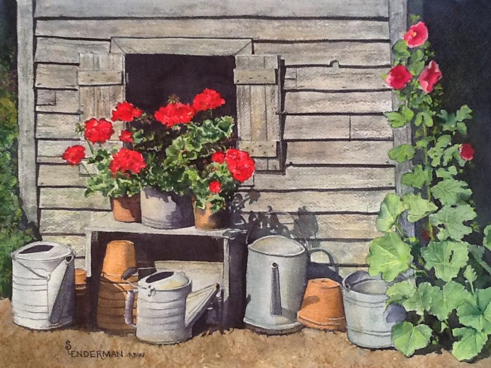 Painting by Sandy Lenderman