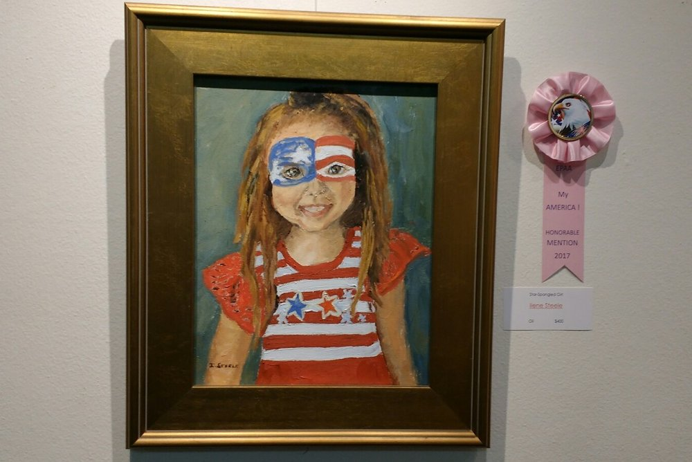 Star Spangled Girl by Ilene Steele.  Honorable mention