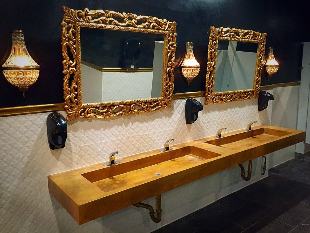 Awesome The Globe Theater/iridescent Cast Concrete Vanity