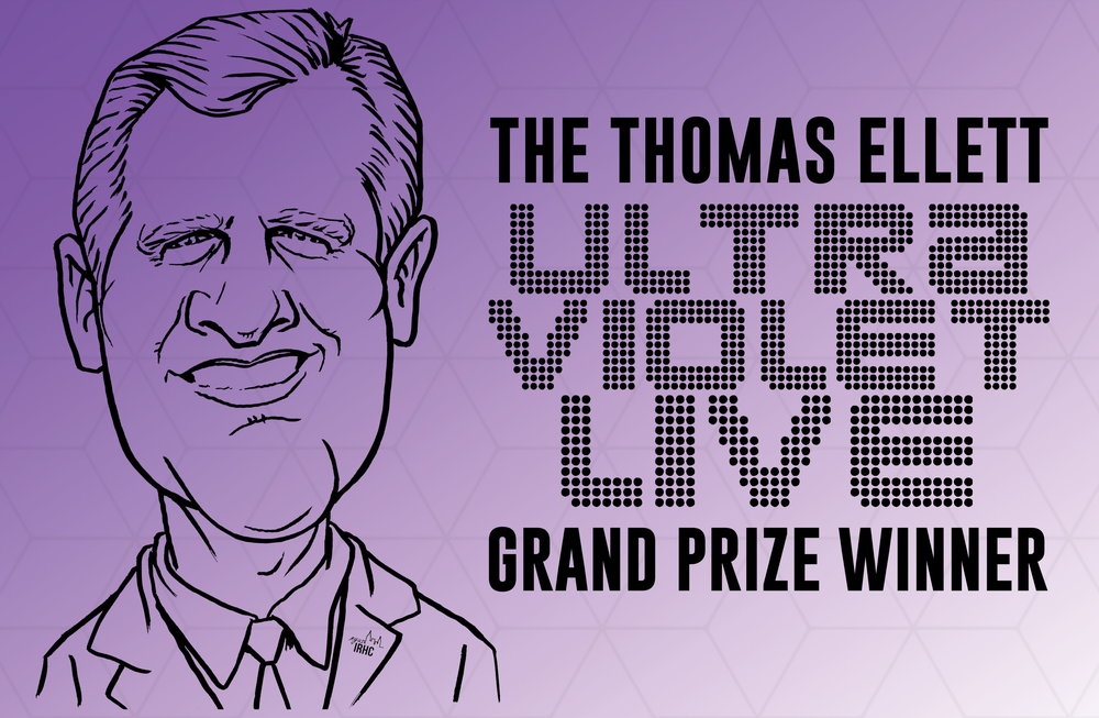- UltraViolet Live turned 15 in 2018. To commemorate the anniversary, IRHC renamed the UVL grand prize after Thomas Ellett who created UVL in 2003. The Thomas Ellett UltraViolet Live Grand Prize Winner is awarded $1000 and receives an oversized check featuring Ellett's likeness. A perpetual plaque featuring the names of all Thomas Ellett UltraViolet Live Grand Prize Winners is housed in the central Residential Life & Housing Services office.