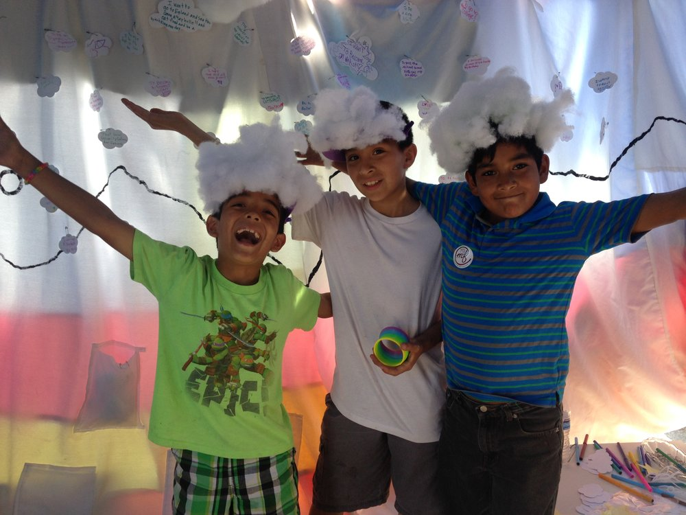 Kids in our dream tent, Milton-Freewater OR.