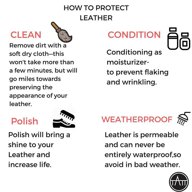 How To Protect Leather. #leathercare #protect #leathergoods #leathergoodscare #leather #tatt #tatttalk