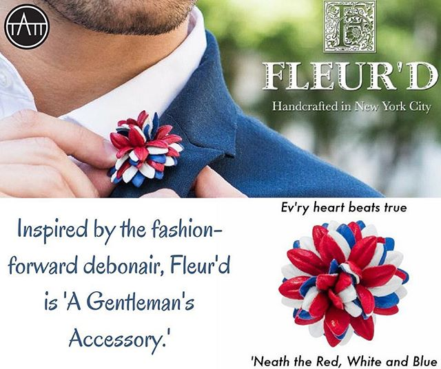 Inspired by the fashion-forward debonair, Fleur'd is a Gentleman's accessory. #accessory #accessorize #accessorythintank #wework #entrepreneur #luxurydesign #fleurd #Himandher #flower #redwhiteblue #flowerpin #madeinnyc #designer #fashionforward @fleurdpins