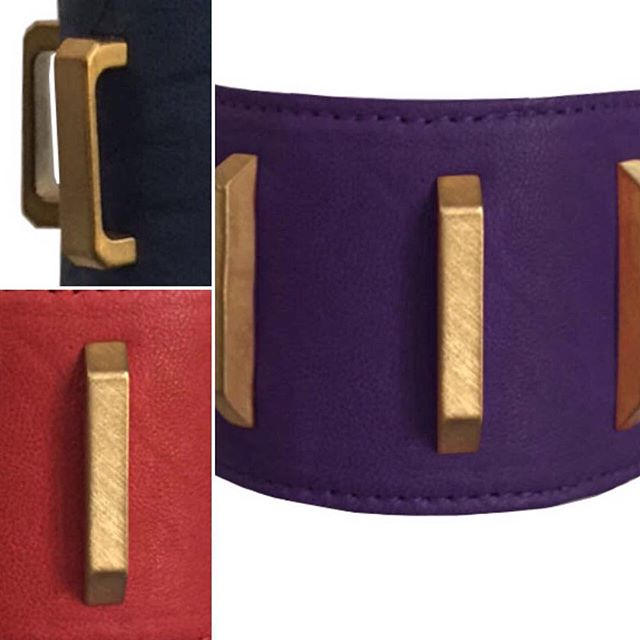 #girlpower #redpurpleblue #desin #luxury #madeinamerica #madeinnyc @morotran #creative #enterpreneur #accessory #accessorize #wework #leathercuff #jewelry #love #leatherbracelet #weloveaccessories @nancybforman
