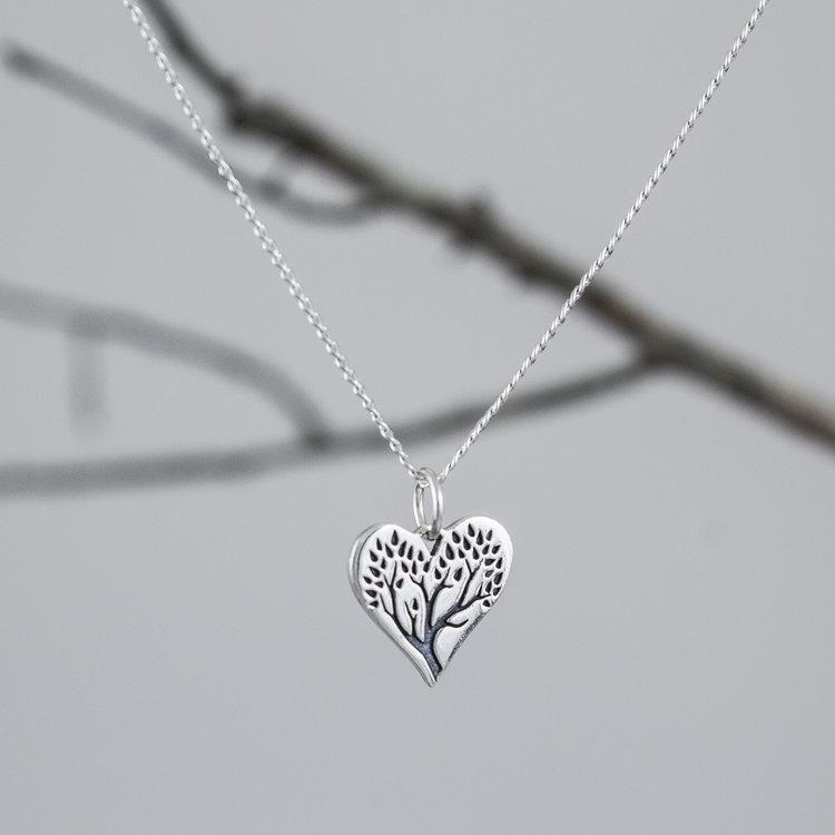 5b6e8eb9c9 Tree of Life Heart Necklace — Nicole Wayne Adornment Design