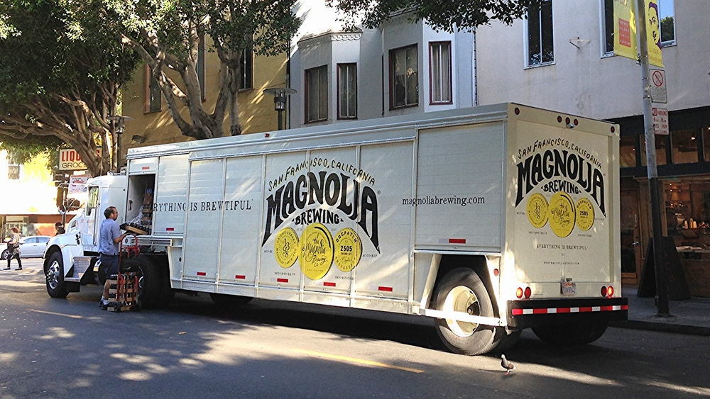 Magnolia Brewing Company Vehicle Advertising