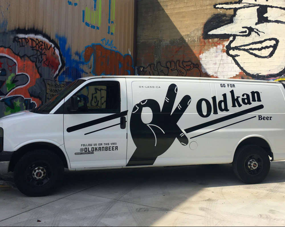 Old Kan Beer Logo and Vehicle Graphics