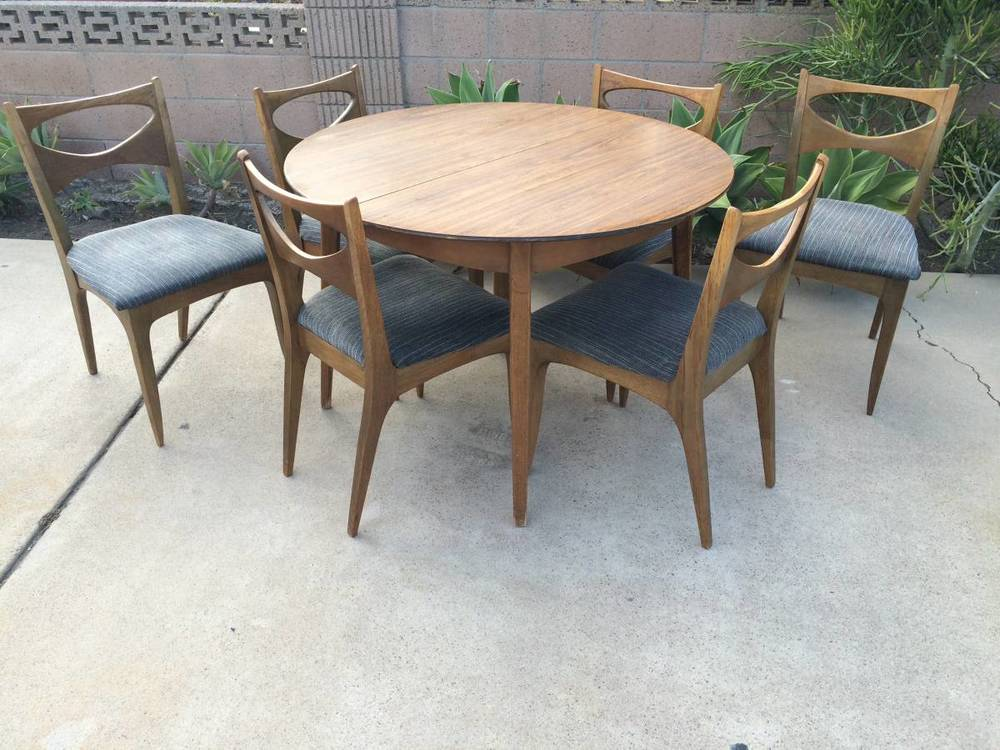 John Van Koert for Drexel Profile Dining Table and Chairs The