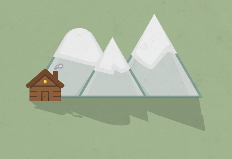 Free Three Sisters Mountains vector I designed in illustrator for my parent's Christmas card