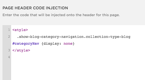 Paste the code into the Page Header Code Injection area.