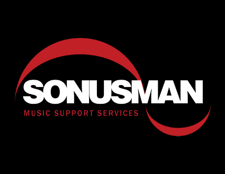 The original, solid but a little dated, Sonusman Logo.