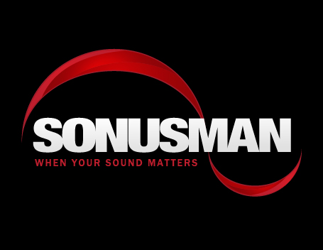 Sonusman's new logo redesigned by Patey Designs