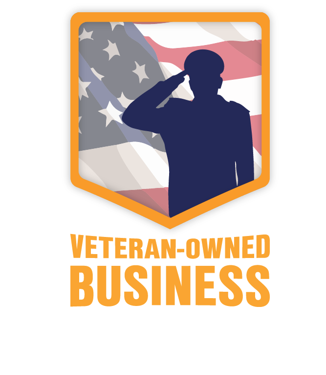 PNG image of Veteran-Owned Business badge for dark backgrounds.