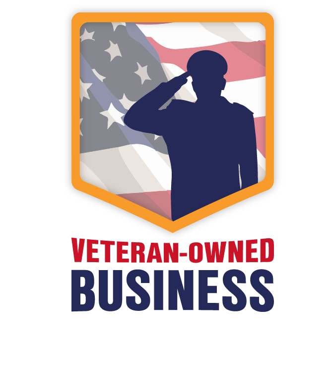 PNG image of Veteran-Owned Business badge for light backgrounds.