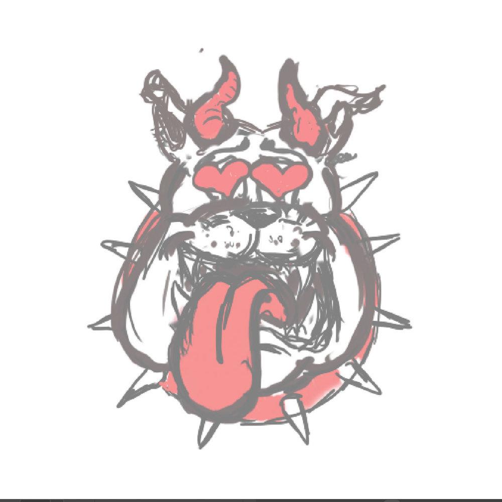 Very rough digital logo sketch