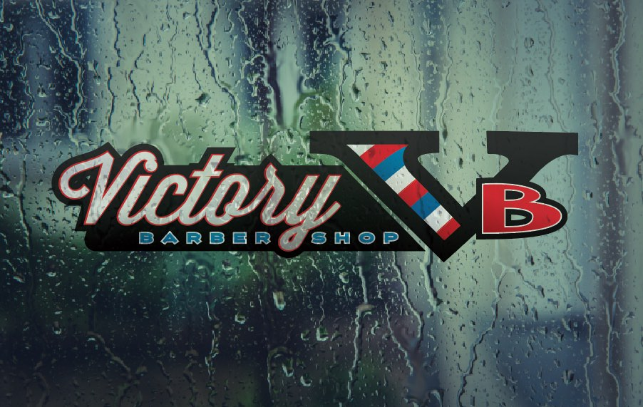Custom Logo for Victory Barbershop designed by Patey Designs.