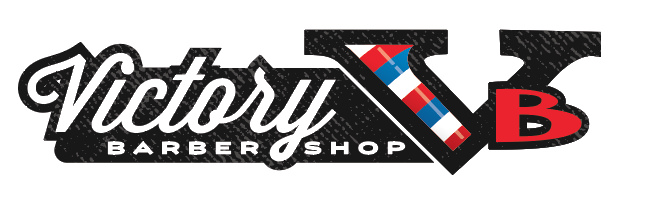 We tried adding a little texture to the custom barbershop logo but decided it took something away from the overall look.