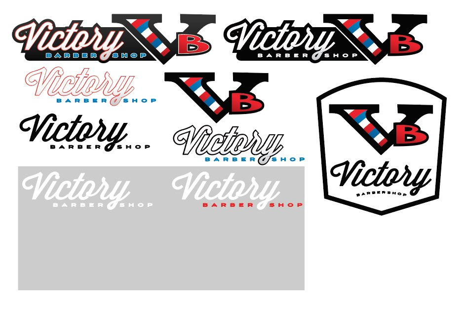 victory barbershop logo design patey designs purpose driven web