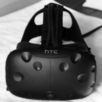 Our Virtual Reality headset,                   the HTC Vive