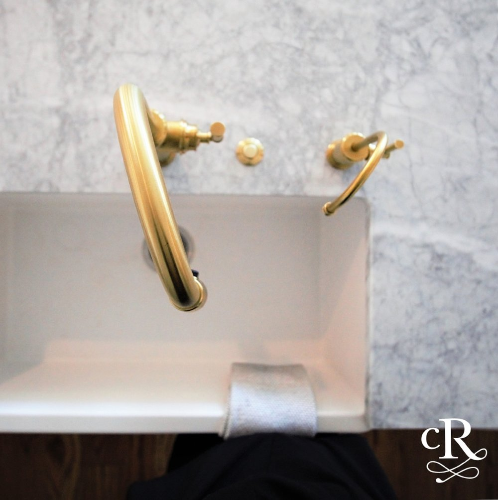 Marble & brass - Such a pretty combination!
