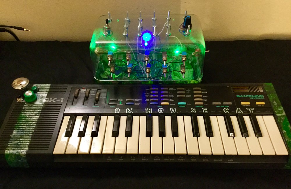 Casio SK-1 with Glowing Control Panel