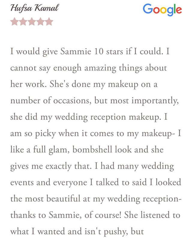 Thank you, Hufsa❤️ How'd I get so lucky with these clients?! I have the best job in the 🌎 All reviews can be viewed on google and google maps app👍🏻💕🎉 #sammieslayed #makeupbyme #bride #bridalglam #lashmurfreesboro #nashvillemakeupartist  #seattlemua #slay #nashvillestylist #nashvillemodel #slaytheday #modeling #murfreesboromakeupartist #nashvillebride #nashville #lamua #bridalmua #murfreesboromua #nashvillemua #nyxcosmetics #fabulousmakeupartists #instagrambeauties #MTSU #bridalmakeup #editorial #makeupartistsworldwide  @jordanliberty @maccosmetics @sexyhair @kingmalimagic @norvina @anastasiabeverlyhills @hudabeauty @tredayy_ @mannymua733 @jeffreestar @makeupforeverofficial @jaclynhill @morphebrushes @sigmabeauty