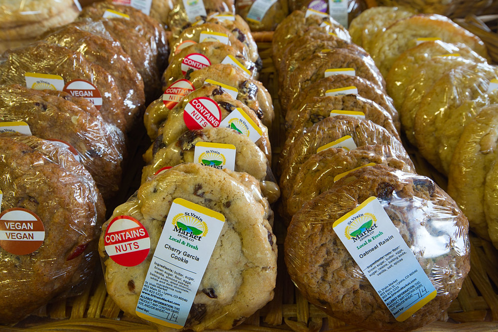 Cookies from the St. Vrain Market Bakery